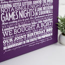 Stretch canvas - Personalised Anniversary Print