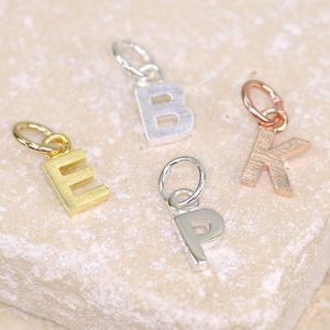 Initial Shaped Charm - charm jewellery