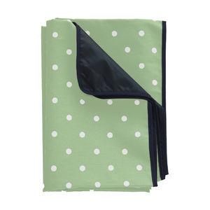 Waterproof Green Polka Dot Picnic Rug