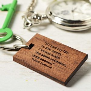 Personalised Quote Keyring - wedding favours