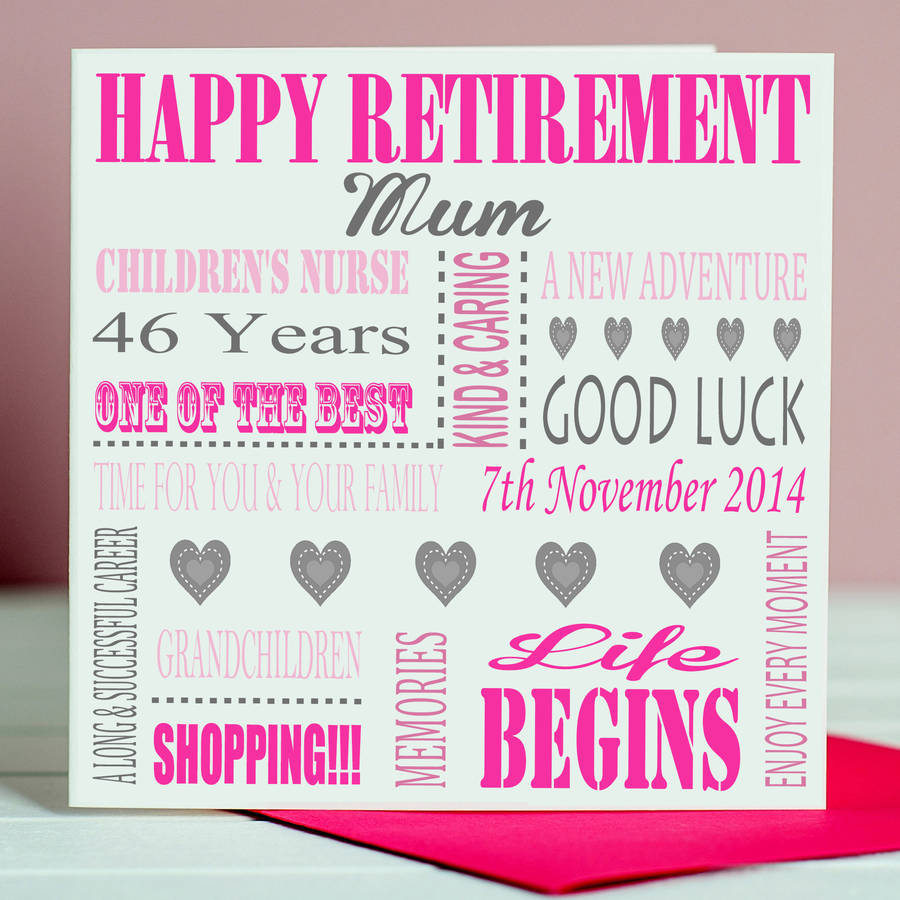 Personalised retirement card by lisa marie designs personalised retirement card m4hsunfo