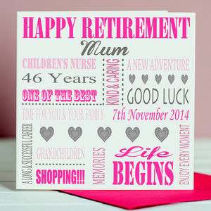 Personalised Retirement Card - retirement cards