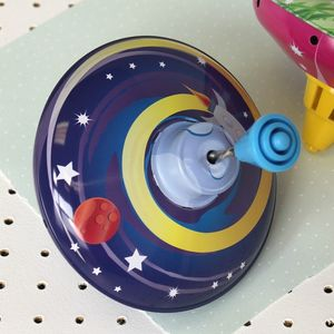 Tin Space Spinning Top - traditional toys & games