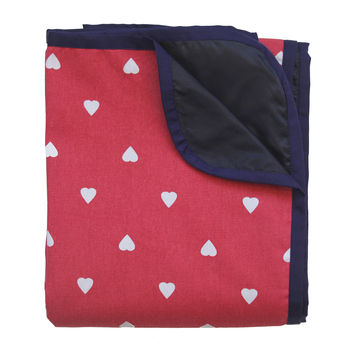 Spotty Heart Waterproof Picnic Blanket