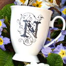Personalised Initial China Mug
