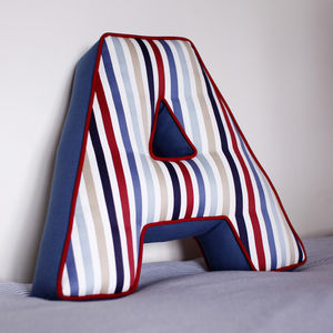 Two Tone Letter Cushion - soft furnishings & accessories