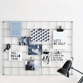 Steel Wire Mesh Noticeboard - shop by room