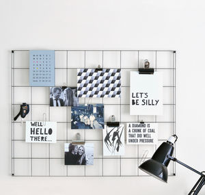Steel Wire Mesh Noticeboard - storage & organisers