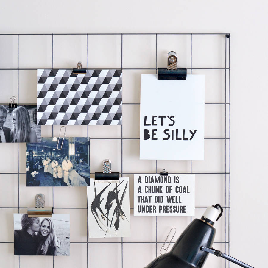 Steel Wire Mesh Noticeboard By Oakdene Designs
