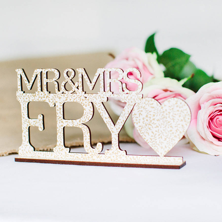 Personalised Vintage Mr And Mrs Wedding Sign By Artcuts
