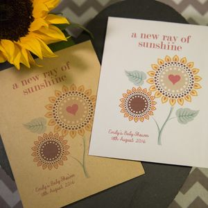 10 'Ray Of Sunshine' Seed Packet Baby Shower Favours