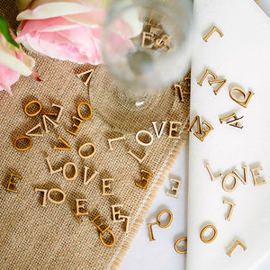 Wooden 'Love' Letters - dining room