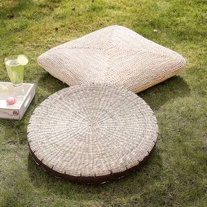 Natural Corn Floor Cushion Collection - living room