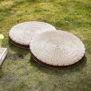 Natural Round Corn Floor Cushion - furniture