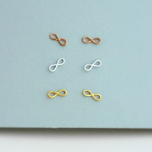 Infinity Stud Earrings - bridal edit