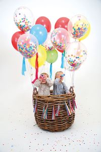 Colourful Confetti Balloon Kit - confetti, petals & sparklers