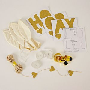 Gold Glitter Balloon Kit - outdoor decorations