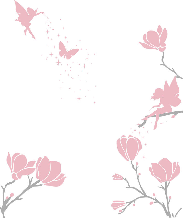 flower fairy wall sticker by bambizi notonthehighstreet com