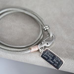 Personalised Tag Message Leather Wrap Bracelet - what's new