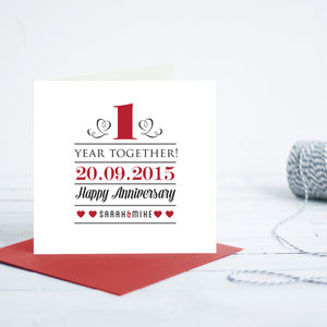 1st Year Wedding Anniversary Card