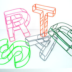 Colourful Wire Alphabet Letters - outdoor decorations