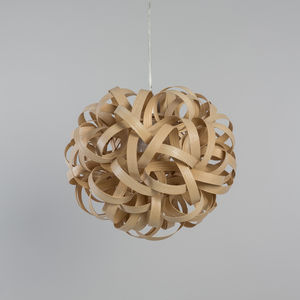 Tom Raffield No.One Pendant Wooden Lampshade Standard - pendant lights