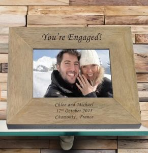 Engagement Engaged Personalised Picture Frame - engagement gifts