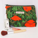 Poppy Floral Make Up Bag