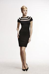Catherine Bodycon Dress With Cut Out Detail - dresses