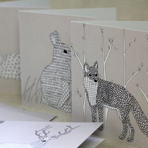 Woodland Animal Note Cards Set Of Eight