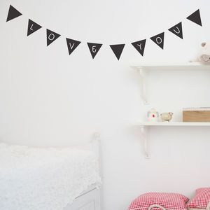 Chalkboard Bunting Wall Stickers - room decorations