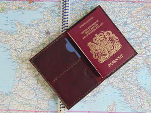 Hand Stitched Leather Passport Holder - frequent traveller