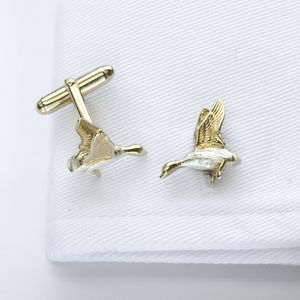 Duck Cufflinks In Gold And Silver - men's accessories