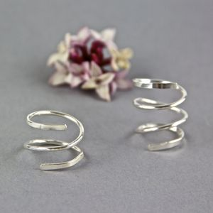 Sterling Silver Spiral Wrap Ring - women's jewellery