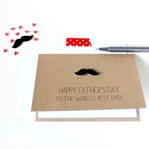 Personalised World's Best Dad Father's Day Card