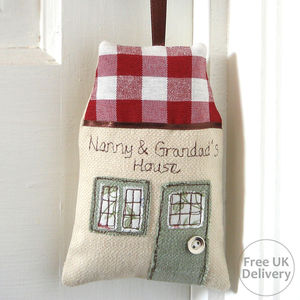 Personalised Embroidered House Decoration - hanging decorations