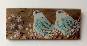 The Snuggery. Screen Print On Wood. Only One Left - animals & wildlife