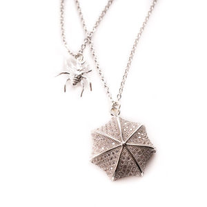 Spider And Web Necklace - charm jewellery