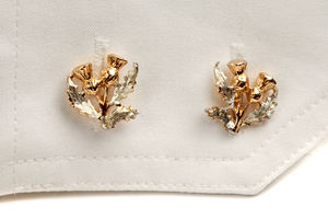 Gold And Silver Thistle Cufflinks - men's jewellery