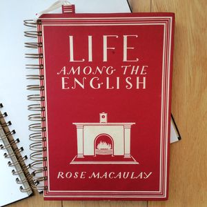 'Life Among The English' Upcycled Notebook