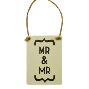 Mini Mr And Mr Wedding Sign