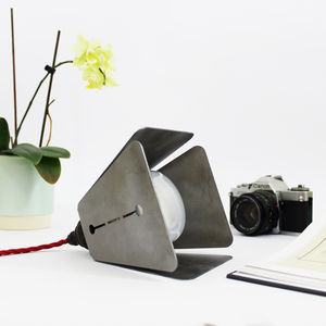 Square Industrial Steel Lamp - the lighting edit