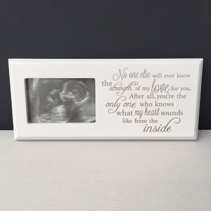 Baby Scan Photo Frame - personalised