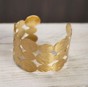 Gold Circles Cuff Bracelet