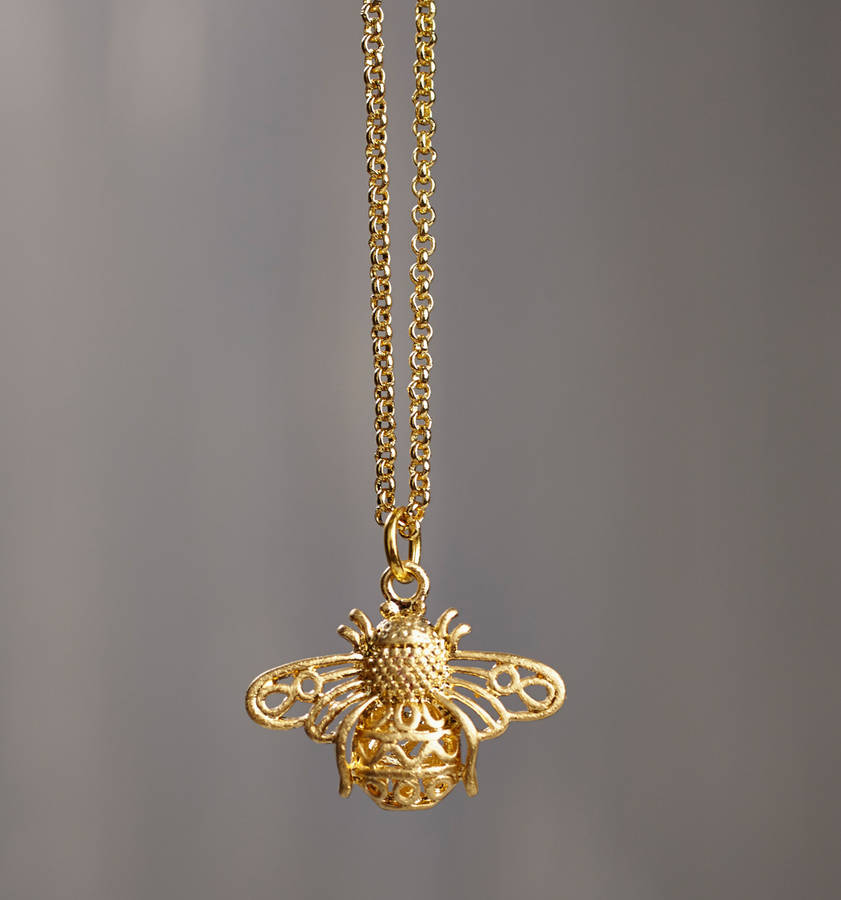 necklace london products skinnydip pendants bumblebee