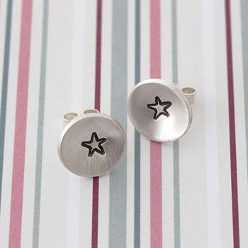 Handmade Star Stud Earrings