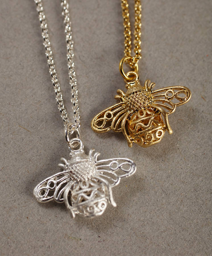 necklace in etsy bumblebee sterling ca dainty bee cuzn tiny il market silver