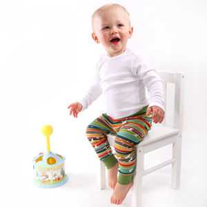 Bright Stripe Leggings - trousers & leggings