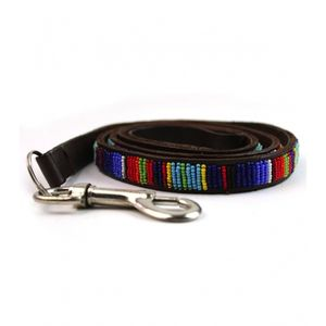 Beaded Vertical Stripe Dog Lead