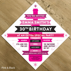 Personalised Birthday / Wedding Party Invite - wedding stationery